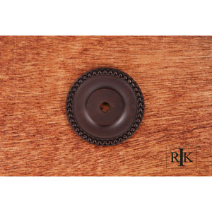 Oil Rubbed Bronze Beaded Single Hole Backplate