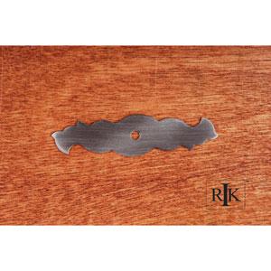 Distressed Nickel Curvy Single Hole Backplate