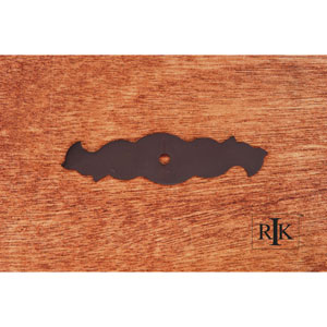 Oil Rubbed Bronze Curvy Single Hole Backplate