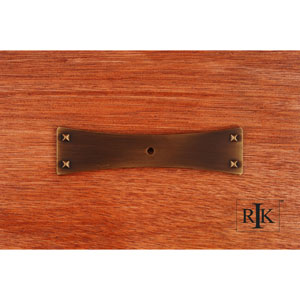 Antique English Bent Rectangular One Hole Backplate