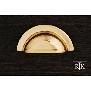 Polished Brass Smooth Half Circle Cup Pull