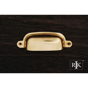 Polished Brass Flat Box Cup Pull