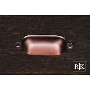Distressed Copper Flat Box Cup Pull