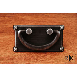 Distressed Nickel Rectangular Plated Bail Pull