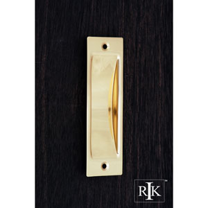 Polished Brass Thin Rectangle Flush Pull