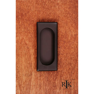 Oil Rubbed Bronze Thick Rectangle Flush Pull