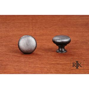 Distressed Nickel Thin Mushroom Knob
