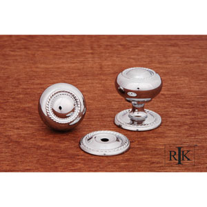 Chrome Rope Knob with Detachable Back Plate