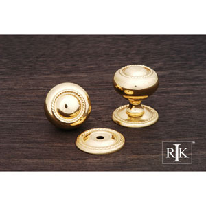 Polished Brass Rope Knob with Detachable Back Plate