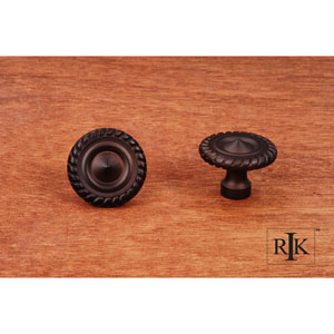 Oil Rubbed Bronze Rope at Edge Knob