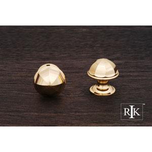 Polished Brass Contoured Dome Knob