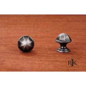 Distressed Nickel Contoured Dome Knob