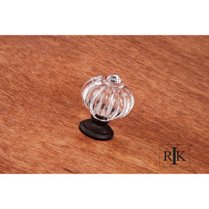 Oil Rubbed Bronze Acrylic Flower Knob