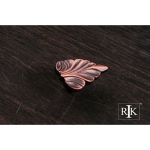 Distressed Copper Leaf Knob