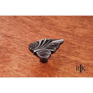 Distressed Nickel Leaf Knob