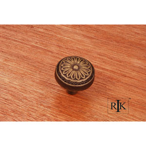 Antique English Flowery Ornate Knob