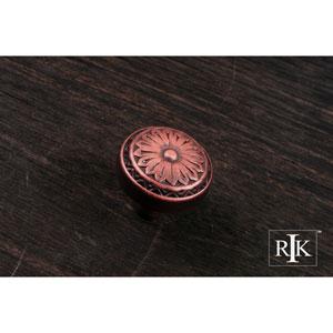 Distressed Copper Flowery Ornate Knob