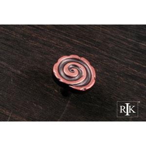 Distressed Copper Swirl Knob
