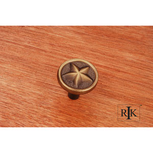 Antique English Rugged Texas Star Knob