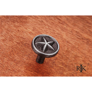 Distressed Nickel Rugged Texas Star Knob