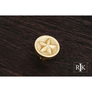 Polished Brass Rugged Texas Star Knob