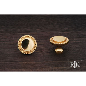 Polished Brass Beaded Knob
