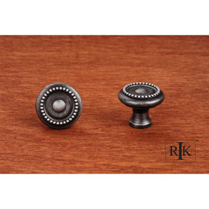 Distressed Nickel Beaded Knob with Tip