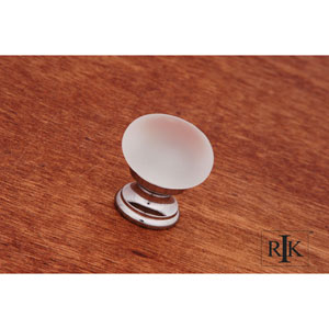 Chrome Smoked Glass Round Knob