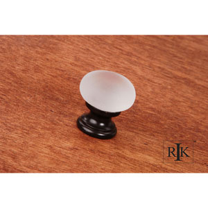 Oil Rubbed Bronze Smoked Glass Round Knob