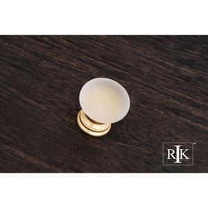 Polished Brass Smoked Glass Round Knob