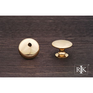 Polished Brass Flat Face Knob