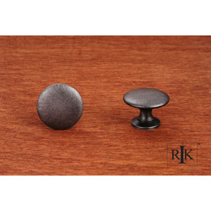 Distressed Nickel Flat Face Knob