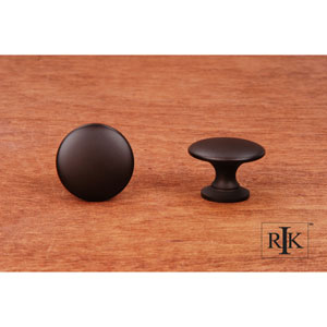 Oil Rubbed Bronze Flat Face Knob