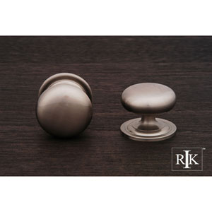 Pewter Solid Plain Knob with Backplate
