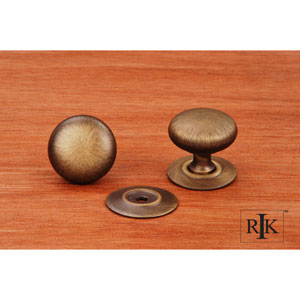 Antique English Plain Knob with Detachable Back Plate