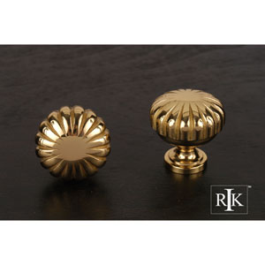Polished Brass Smooth Melon Knob