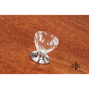 Chrome Diamond Cut Acrylic Knob