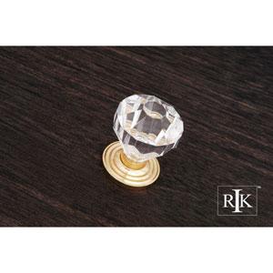 Polished Brass Diamond Cut Acrylic Knob