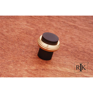 Oil Rubbed and Brass Solid Swirl Rod Knob