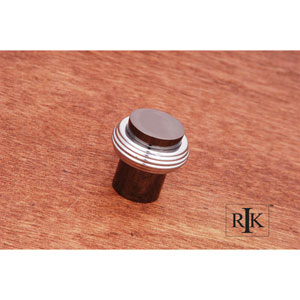 Black Nickel and Chrome Solid Swirl Rod Knob