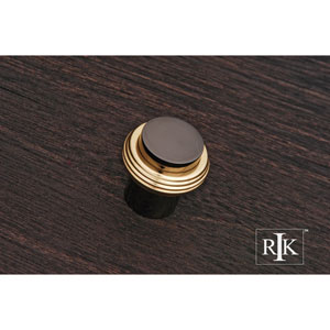 Black Nickel and Brass Solid Swirl Rod Knob
