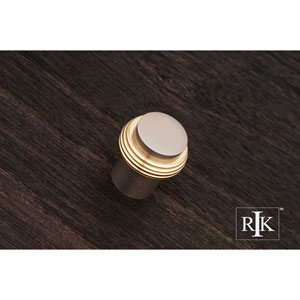 Pewter and Brass Solid Swirl Rod Knob