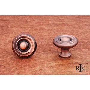 Antique Copper Solid Georgian Knob