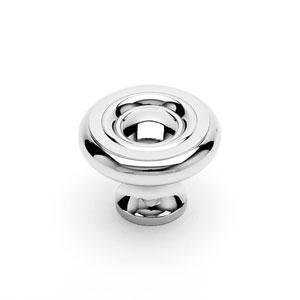 Polished Nickel Solid Georgian Knob