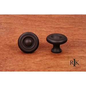 Oil Rubbed Bronze Solid Georgian Knob