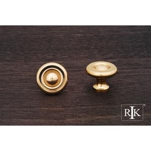 Polished Brass Solid Georgian Knob