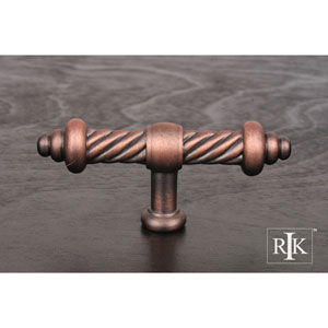 Distressed Copper Large Twisted Knob