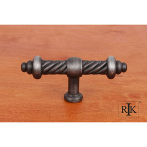 Distressed Nickel Large Twisted Knob