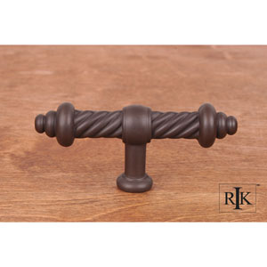 Oil Rubbed Bronze Large Twisted Knob