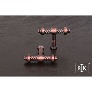 Distressed Copper Small Twisted Knob
